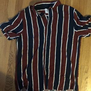 NWOT short sleeve striped button down